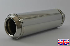 """SP Engineering Polished Stainless Stubby Domed GP Exhaust 45mm/ 1.75""""  Slip On"""