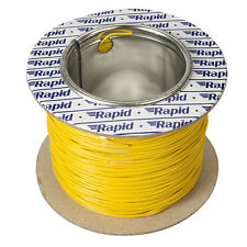 Model Railway Layout Lighting, DCC Chip etc Wire 100m Roll 10/0.1mm 0.5A Yellow