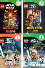 DK Readers Level 1-2 Lego Star Wars Empire Strikes Back,Clones,New Hope,Menace