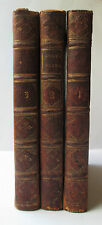 1741 Chaucer CANTERBURY TALES 3 Volumes VERY RARE Mr. Ogle's 1st edition LEATHER