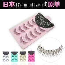 Handmade Japan 5 pairs Magic diamond lashes False eyelashes in Pink Box No.17