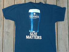 Mens Graphic Tee Shirt Official Guinness Draught Beer Size Large L Size Matters