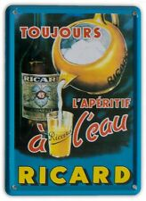 RICARD TOUJOURS Small Vintage Metal Tin Pub Sign