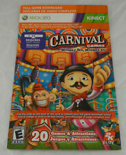 Carnival Games Monkey See, Monkey Do Full Game Download Card, Microsoft Xbox 360