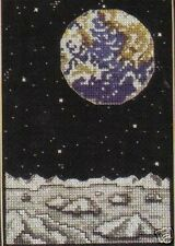 Earth Watch Cross Stitch Chart/Pattern - Earth As Seen From The Moon
