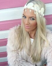 Concha de mar Corona Sirena Diamond Pearl Hair Head Band choochie Choo Bohemio
