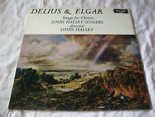 ZRG607 - DELIUS & ELGAR Songs For Corus - Louis Halsey Singers LP Exc #B