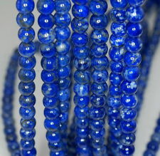 5.5MM LAPIS LAZULI GEMSTONE GRADE AAA BLUE ROUND 5.5MM LOOSE BEADS 16""