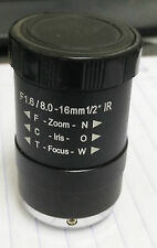 "Arecont MPL8-16 f1.6, 8-16mm,1/2"", IR CS-mount, IR Corrected - FREE SHIP!"