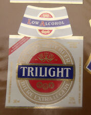 VINTAGE CANADIAN BEER LABEL - CARLING O'KEEFE BREWERY, TRILIGHT LOW ALCOHOL