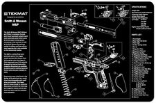 Smith & WESSON M&P 9mm Pistol Pistola Pulizia armaiolo Bench Riparazione Tiro TekMat