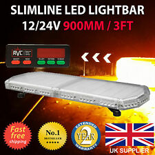 "900mm 32"" Recovery LED Light Bar Flashing Amber Warning Beacon Strobe truck"