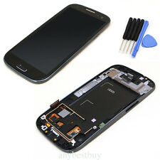 Full LCD Display Touch Screen Glass & Frame per Samsung i9305 GALAXY S3 Negro
