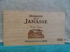 2003 DOMAINE DE LA JANASSE VIEILLES VIGNES DU PAPE WINE PANEL 3/8'' THICKNESS