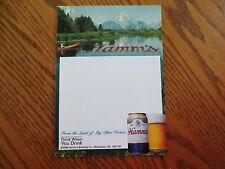 Vintage 2000 Hamm's Brewing Beer Mini Write-On Poster Advertising Milwaukee WI
