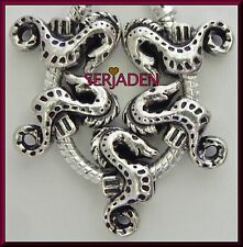 5 Seahorse Charm Spacers fits European Style Bracelet & Necklace 5 mm Hole S218