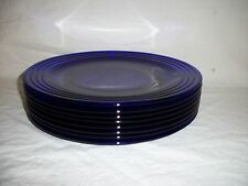 Lot of 8 Cobalt Glass Chargers - Dinner Plates 12""