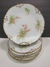 6 Antique French Limoges Porcelain Plates AK CD Klingenberg Dwenger Lily Valley