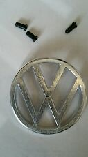 EMBLEM FRONT HOOD VW 3 PRONG FITS VOLKSWAGEN TYPE3 1970-73 THING 1973-74 w/clips