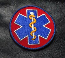 MEDIC EMBROIDERED PARAMEDIC EMT EMS TACTICAL MORALE HOOK PATCH