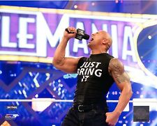 "THE ROCK WWE PHOTO INRING 8x10"" OFFICIAL WRESTLING PROMO WRESTLEMANIA"