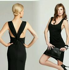�� New Guess by Marciano black Edie Twist Back Dress size S ��