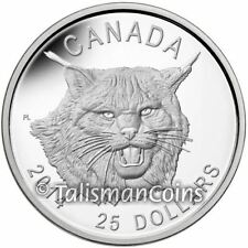 Canada 2014 Canadian Lynx $25 Portrait Ultra High Relief Pure Silver Proof