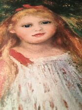 Renoir / Portrait Of A Young Girl / Museum Of Art Sao Paulo Lithograph