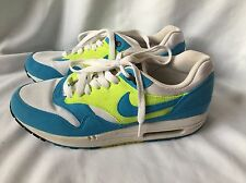 Nike Air Max Classic Suede Blue And Neon Green Size UK 6