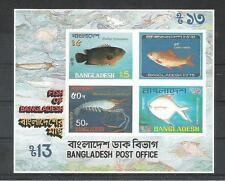 N. Fische  Meerestiere  Bangladesch  Block 11  **  (mnh)