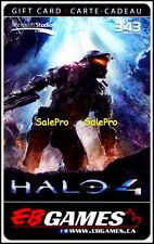 EB GAMES GAMESTOP HALO 4 MICROSOFT STUDIOS 343 INDUSTRIES COLLECTIBLE GIFT CARD