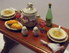 Dollhouse Vegetable Soup Table Set 18652 Reutter Roseband Miniature Filled 1:12