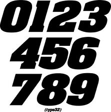 MOTORCYLCLE MX NUMBER PLATE RACING DECALS/STICKERS SUPERCROSS SUPERBIKE TRIAL