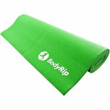 BodyRip GREEN THICK FOAM YOGA PILATES GYM MAT 6mm FITNESS GYM EXERCISE TRAINING