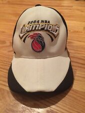 Detroit Pistons 2004 NBA Champions Reebok Authentic Locker Room Edition Hat Cap