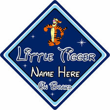 Personalised Little Tiger On Board Car Sign – Disney Winnie The Pooh Tigger DB