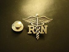 Sterling Silver RN Registered Nurse PIN
