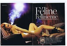 COUPURE DE PRESSE CLIPPING 2010 FHM Martina Stella joue du Fellini  (8 pages)