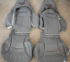 1997-2004 C5 Corvette Genuine Leather Seat Covers Light Grey Sport Seats