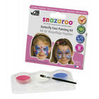 SNAZAROO GIRLS GLITTER BUTTERFLY FACE PAINT KIT - PINK WHITE & BLUE (1184800)