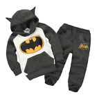 Kids Baby Boys Batman Top Hoodie+Pants Trousers Tracksuits Clothes Outfit 12-18M