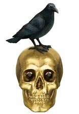 BONEYARD SKULL AND RAVEN Halloween Party Gothic Table Decoration 21cm x 9cm 1485