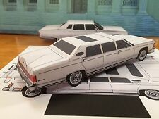 Papercraft Lincoln Executive Limousine Paper Car EZU-Make It 1978 Toy Model Car