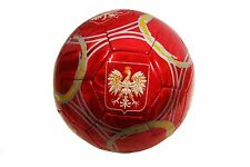 POLAND EAGLE WITH STRIPES RED SOCCER BALL..SIZE: 5