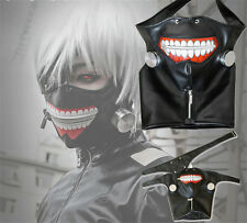Cosplay Tokyo Ghoul Kaneki Ken Adjustable Zipper PU Leather Mask Prop NNN*