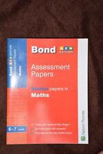 NEW Bond Assessment Papers Starter MATHS Year 1 Ages 6-7yrs  Nelson Thornes