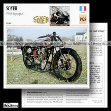 #017.09 SOYER 350 S8 SUPERSPORT 1928 Fiche Moto Racing Motorcycle Card