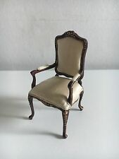Dollhouse Miniature Bespaq Walnut Chair 1:12