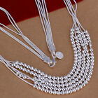 XMAS wholesale free shipping sterling solid silver 2mm balls necklace YN747+box