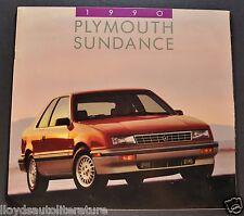 1990 Plymouth Sundance Catalog Sales Brochure Excellent Original 90